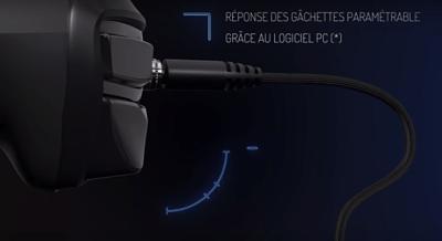 profondeur des gâchettes de la manette Nacon pour PS4