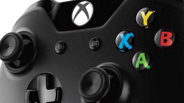 zoom sur les boutons de la manette Xbox one noire