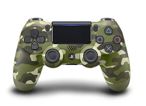 manette ps4 green camouflage