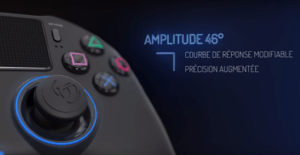 amplitude du stick pour manette ps4 Nacon