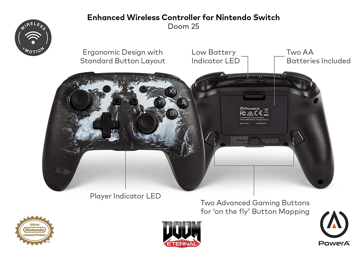 manette switch doom détails