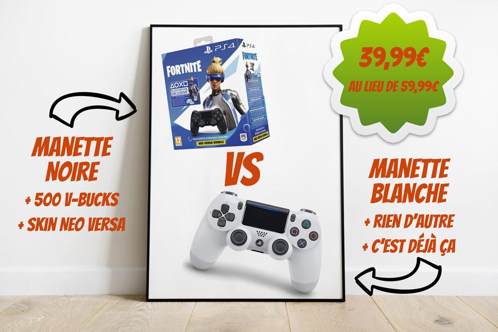 affiche promo Manettes PS4